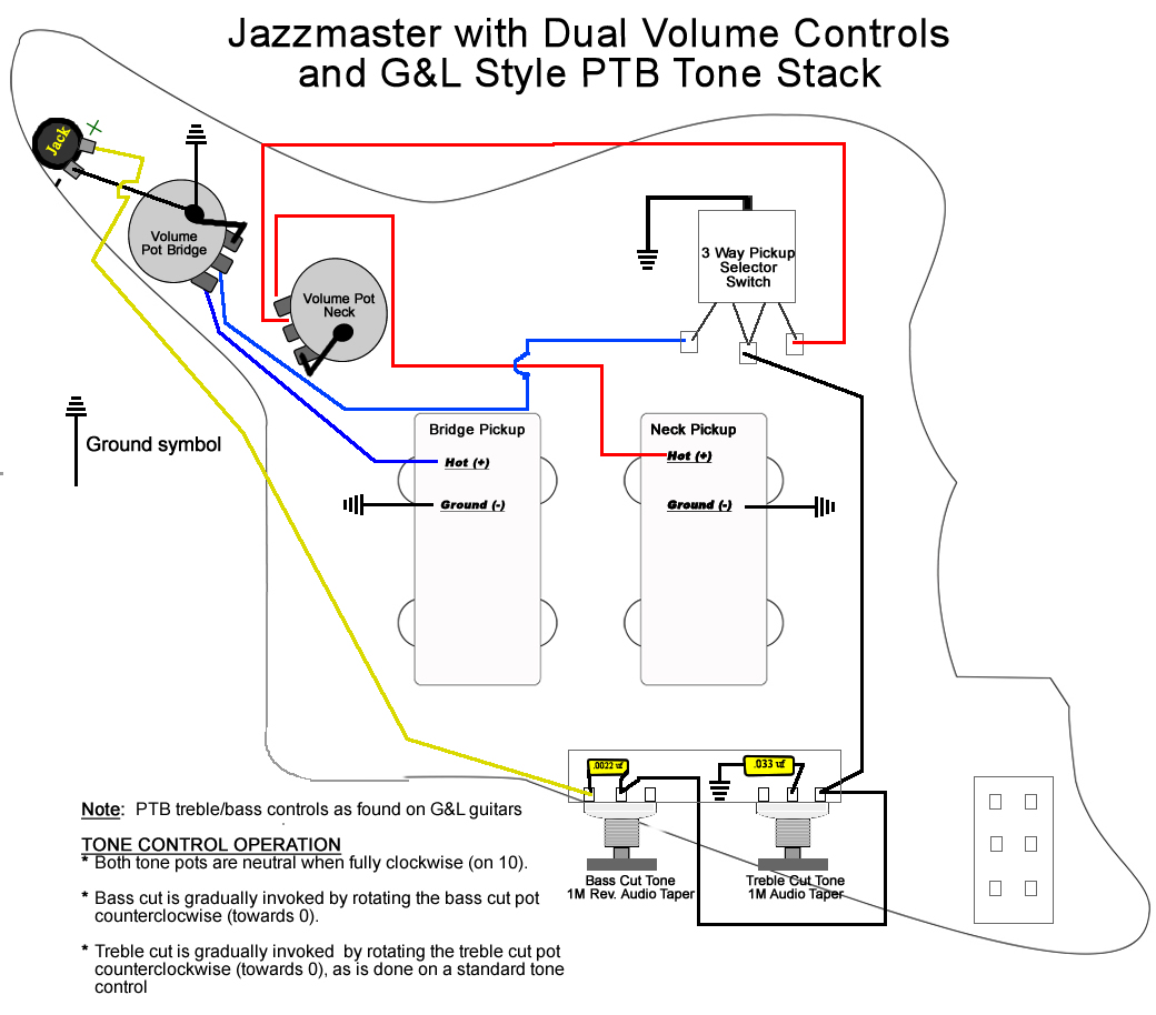 Upgrading Jazzmaster Electronics Part Ii Wiring Mods Reverb News Les Paul Diagram 50s Vs Modern As Well Gibson Click To View Full Size