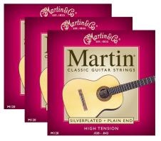3 Packs of Martin M120 Silver Plated - Plain End Classical Guitar Strings image