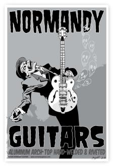 "Normandy Guitars Zombie Poster (22""X 15"") image"