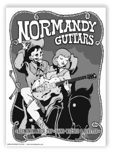 "Normandy Guitars Western Zombie Poster (22""X 15"") image"