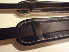 Cornhusker Guitar Straps Vintage Style Leather Shoulderpad Strap 2013 Black image
