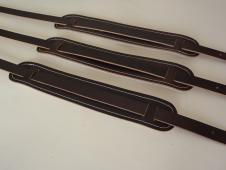 Cornhusker Guitar Straps Vintage Style Leather Shoulderpad Strap 2014 Brown image