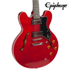 Epiphone Dot Cherry Finish Electric Guitar Kit - Includes: Gig Bag, Stand, Strap, Cable, Tuner & Pic image