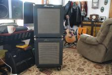 Ampeg B100R Amp and Ext. Cab 2009-10 circa Blue Diamond Tolex image