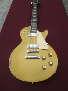 Gibson  1973 Gibson Goldtop Deluxe Mini Humbuckcers Original Relic 1972-1973 Goldtop Nitro image