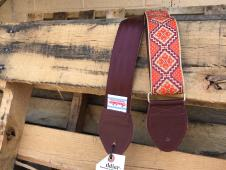 NEW Souldier Straps Rustic Seatbelt Strap - Burgundy Strap & Tabs / Nickel Hardware - Free Ship image