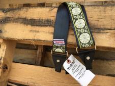 NEW Souldier Straps Banjo Seatbelt Strap - Black Strap & Tabs / Nickel Hardware - Free Ship image