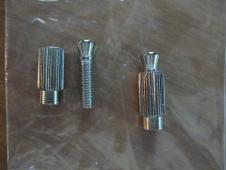 Bushing and inserts to mount licensed Floyd Rose tremolo or other pivot type. DIYGK IN01C  Chrome image
