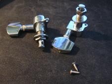 Guitar Tuners, machine heads, 1 Right, 1 left. DIYGK C2LR  Chrome image