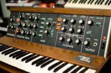 Moog MiniMoog Model D 1970, owned by Joe Satriani, Moded for MIDI! image