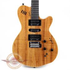 Godin xtSA Flame Koa Electric Guitar in Natural High Gloss image