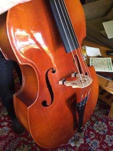 Scherl & Roth 3/4 size Upright Bass Spruce top, Maple Sides And Back image