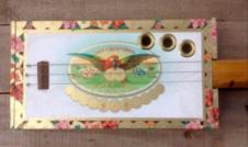 Cigar Box Guitar ( From Private Collector) Boxard Fretless CBG . Intended to be played with a slide image
