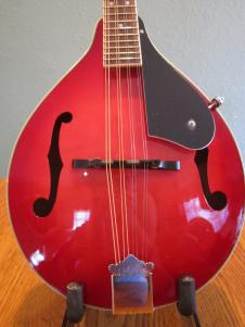 Hohner HMA-TR red finish A-style mandolin with f-holes image