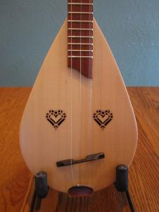 Roosebeck Dulcinet lacewood with heart soundholes image