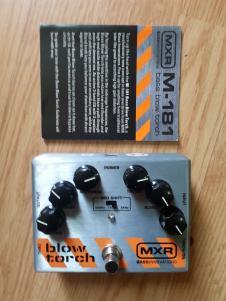 MXR Blowtorch Bass Fuzz M181 2010s Aluminum w/ manual, patch cable image