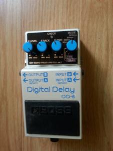 Boss DD-6 Digital Delay 2007 Pearl White FREE Patch Cable image