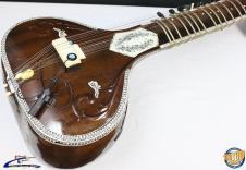 Bhargava & Co Acoustic-Electric Double Toomba Sitar w/ Case, India #29082 image
