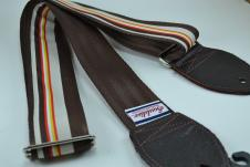 NEW! Souldier Guitar Straps - Barstow Brown/Tan  - Brown Seatbelt - Leather Ends image