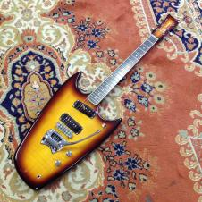 Hallmark Swept Wing Custom Electric Guitar 2007 Sunburst - Mosrite image