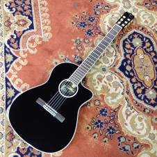 Cordoba Fusion 14 Jet Acoustic Electric Nylon Classical Guitar Jet Black image