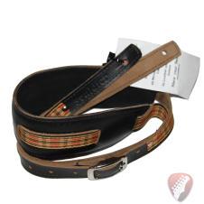 Souldier Vintage Leather Saddle Strap - Plaid - Black image