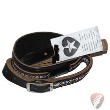 Souldier Vintage Leather Saddle Strap - Classic Weave  - Black image