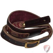 Souldier Vintage Leather Saddle Strap - Tapestry  - Tan image
