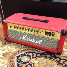 Marshall MG100FX Amp Head Red image