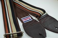 NEW! Souldier Guitar Straps - Barstow Black/Tan - Leather Ends image