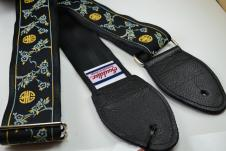 NEW! Souldier Guitar Straps - Cherry Blossom Black - Leather Ends image