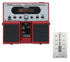 Boss VE-20 Vocal Performer w/ Dunlop M237 MXR DC Brick Power Supply image