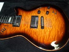 Godin  LGX SA AAA Quilt Maple Top  Cognac Burst w/ Hard Case image