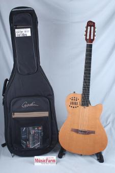 Used Godin ACS SA Nylon String Solid Cedar Top Acoustic Electric Guitar Natural image