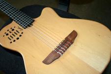 Godin Acs Sa Nylon Synth Guitar Natural Cedar W/gig Bag image