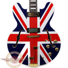 Used Epiphone Limited Edition Union Jack Sheraton Semi Hollow Body Electric Guitar image