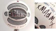 Blue Snowball USB Microphone, Signed by Melissa Auf der Maur of Hole & Smashing Pumpkins image