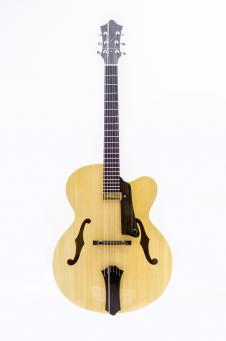 Handmade Single Cut Archtop with Kent Armstrong Pickup image