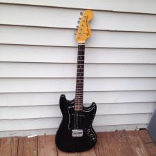 Fender Musicmaster 1978 Black with Original Hardcase image