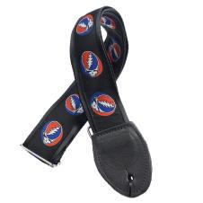 Souldier Grateful Dead Steal Your Face Strap on Black w/Black Belt & Black Ends image