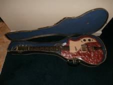 Vintage 1962 Supro Belmont Electric Guitar w/ Case! Rare Red Pearloid! image