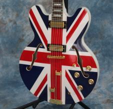 Epiphone Limited Edition Union Jack Sheraton Semi-Hollowbody Electric Guitar W/ Vintage 60s HSC image