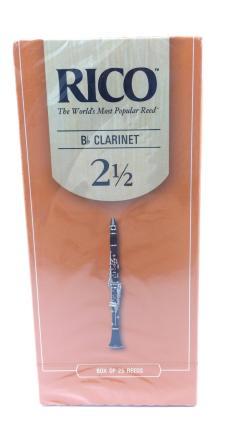 Rico  Bb Clarinet Reeds Strength 2.5 Box of 25 image