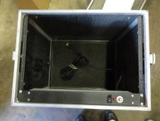 """8 Space Rack Road Case w/ power supply 23"""" x 20"""" x 14 7/8"""" image"""