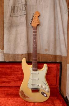 Fender Stratocaster 1966 Olympic White Refin image