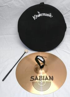 """2000's Sabian (Canada) 14"""" Suspended Kindermusik® 'Gong' Strap Cymbal with Bag and Mallet image"""