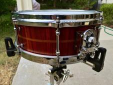 "Daville Drumworks 13x5"" Stave Padauk Snare Drum - Soundfile! image"