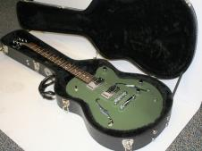 Normandy Guitars ATGHT-AG, Aluminum Archtop Hardtail w/ Army Green Powder Coat Paint image