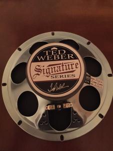 Weber Sig 8 ceramic speaker 8 ohm signature image