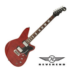 Reverend Bayonet RA90 Electric Guitar - Wine Red Flame Maple image